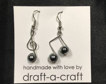 Treble Clef & Music Note Earrings