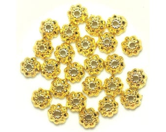 Bag of 20pc - beads caps Golden Metal - 9 x 3 mm 4558550037909