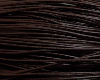 5 m - leather cord genuine coffee black 1 mm 4558550023568