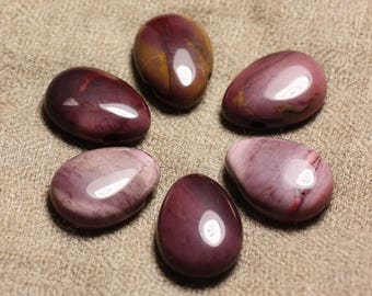 Semi precious stone pendant - Jasper Mokaïte drop 25mm 4558550002211