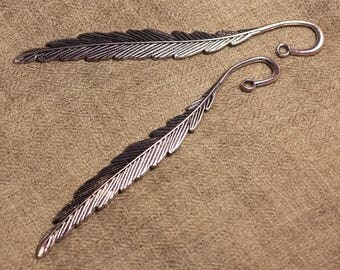 5pc - 11.7 cm 4558550006844 quality silver-plated feather bookmark
