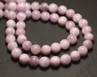 10pc - stone beads - Kunzite pink balls 6 mm - 8741140022256