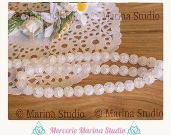 10 beads Crystal matte 8mm - reiki - chakra