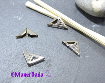 Set of 8 corners in Metal silvered REF:2 / 175