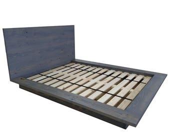 Floating Platform Bed, Cal King Bed, Wide Ledge Bed, Loft Bed, Low Profile Bed