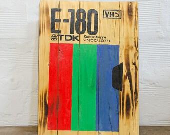 TDK VHS Wood Sign