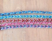 Fishtail fantasy hippie bracelet tie Brasilda choice of color woven bracelet