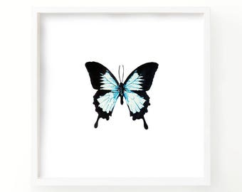 Watercolor Butterfly Print - Living Room Decor - Fine Art Print- Art - Nature Print - Gallery Wall - Wall art - Nursery print -