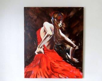 Table - Back flamenco dancer