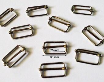 8 Thai silver sliding strap adjustment buckle for bag 30 mm