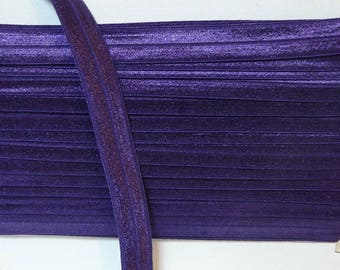 Elastic 16 mm violet purple fabric by the yard
