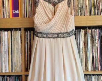 Cream topshop party dress