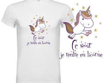 "unisex tshirt ""tonight I'm going into a Unicorn"""