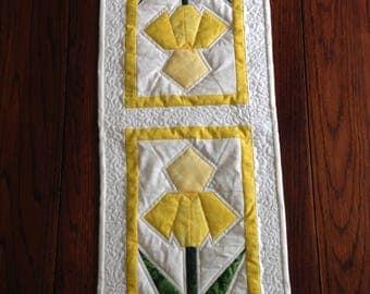Yellow Iris table runner