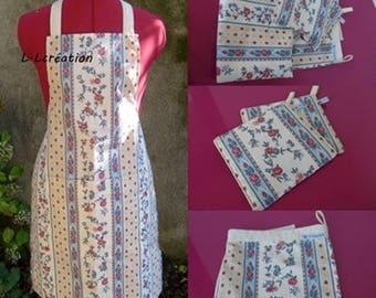 kitchen apron, Potholder and bread bag