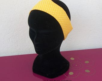 headband for girl yellow cotton fabric