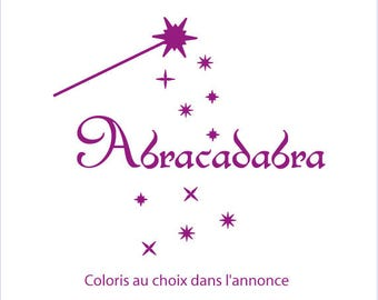 Abracadabra stickers for home decor, baby, children, living room