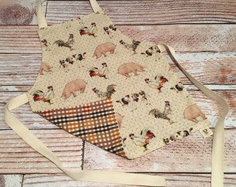 Toddler Size Apron - Farm
