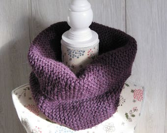 snood mohair woolen woman purple