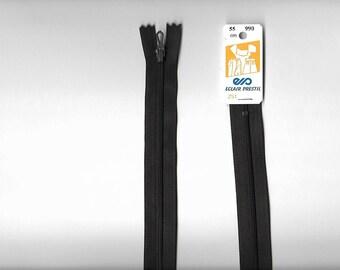 """Closure 55cm zipper""""plastic"""" not separable Z51 Brown """"dark"""" 990"""