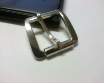 Rectangular buckle in silver passage 2.8 cm * BO37 *.