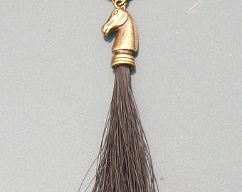 Horsehair Keychain with (your) customizable horse, horse head.