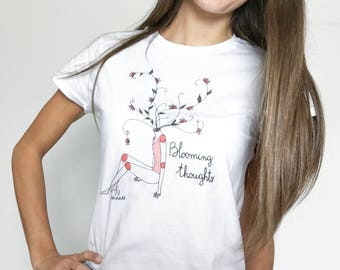 """Woman's """"blooming Thoughts"""" T-shirt"""