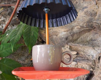 """Coffee cream"" bird feeder"