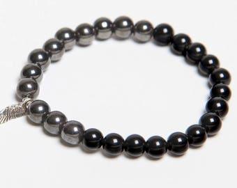 Black Onyx & Hematite Bracelet