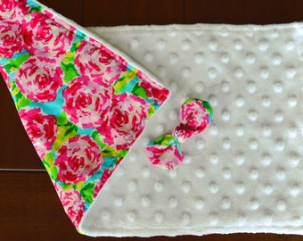Lilly inspired burp cloth