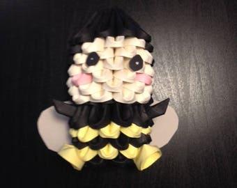 3D Origami Bee Kid