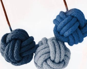 Nautical Knot Necklace - The Blues
