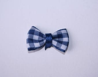 2.8 cm Blue Gingham Bow