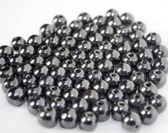 7mm x 20 gray Hematite beads