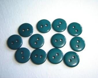 12 buttons dark green / / 12 mm