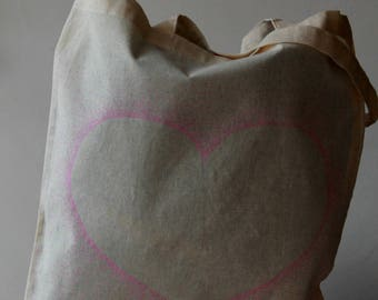 tote bag pattern heart