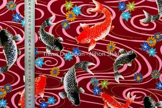 Fish print fabric fabric pattern goldfish fabric for Koi fish print fabric