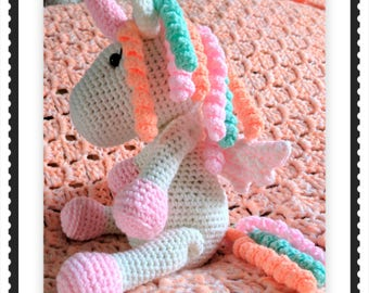 Adorable handmade crochet unicorn