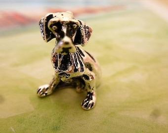 Dog breed Mastiff in silver 20 mm 3 D charm