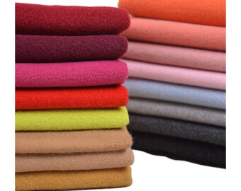 Various colors wool blend fabric, sewing supplies, DIY dress fabric by the 1/2 yard