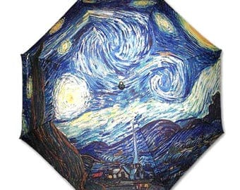 Umbrella Rod - Painter Van Gogh: starry night