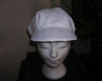 Ivory quilted large women Hat