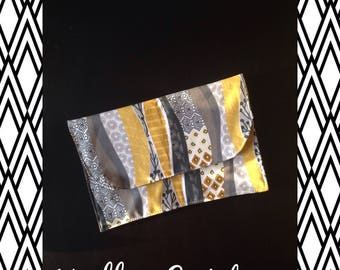 Clutch in cotton 2 patterns