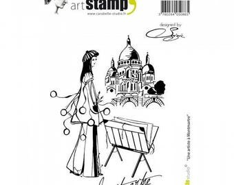Buffer art stamp Carabelle Studio - an artist in Montmartre - for scrapbooking and cardmaking
