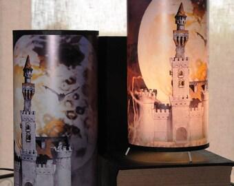 Table for children, fantasy decor lamp
