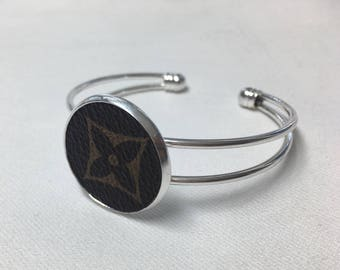 Authentic Louis Vuitton Star Repurposed Cuff Bracelet Monogram LV Cuff