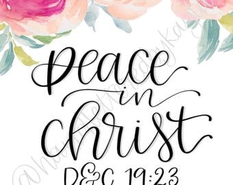 Peace in Christ LDS Youth Mutual 2018 Theme
