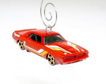 1970 70 Plymouth AAR Cuda Hot Rod Mopar Muscle Car Christmas Hot Wheels Ornament, BettyGiftStoree