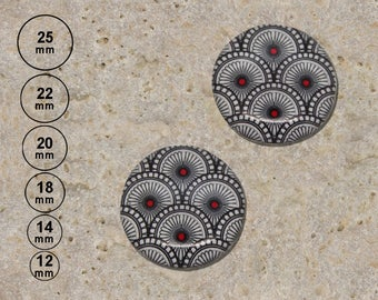 2 round cabochon 20 mm resin Japanese pattern is available in 25mm 22 mm 18 mm 14mm 12 mm