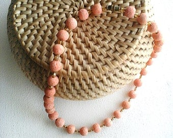 Orange lava beads Choker necklace